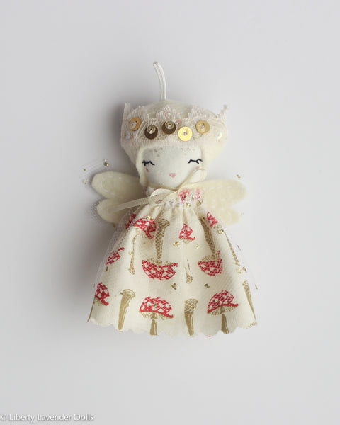 PREORDER: Mini Doll Ornament. Elowen, Limited Edition Tiny Fairy Made to order