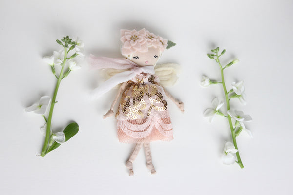 "Tiny Fairy Doll, About 6"" tall"