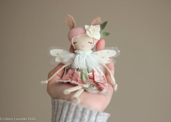 "Tiny Deer Spirit Fairy Doll.  Miniature Decorative Doll about 7.5"" tall"