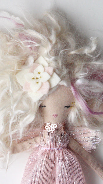 Reserved! Tiny Wild Fairy Doll. One of a kind. About 7 inches tall