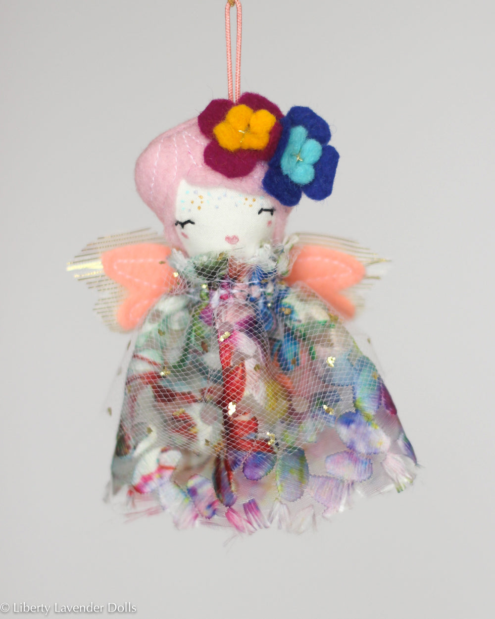 PREORDER: Mini Doll Ornament. Iris, Limited Edition Tiny Fairy Made to order