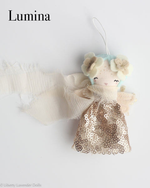 PREORDER: Mini Doll Ornament. Lumina, Limited Edition Tiny Fairy Made to order READ DESCRIPTION please.