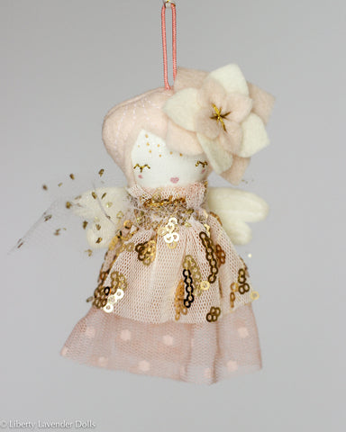 PREORDER: Mini Doll Ornament. Persea, Limited Edition Tiny Fairy Made to order