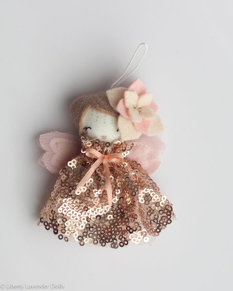 PREORDER: Mini Doll Ornament. Petal, Limited Edition Tiny Fairy Made to order
