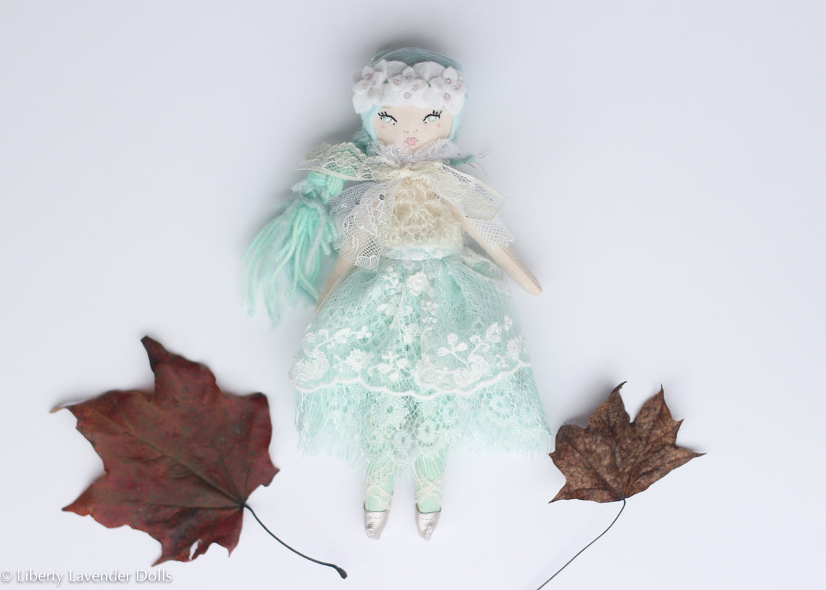 "Petite Heirloom Doll  8"" ish tall. Minty"