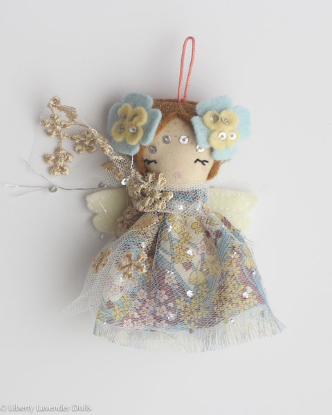 PREORDER: Mini Doll Ornament. Faerydae, Limited Edition Tiny Fairy Made to order