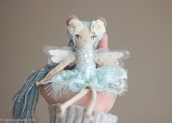 "Tiny Bear Spirit Fairy Doll.  Miniature Decorative Doll about 7"" tall"