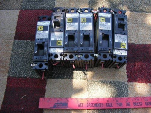 Quantity 6 Square D FAL12020 20A 1-Pole 120V Circuit Breaker in one lot