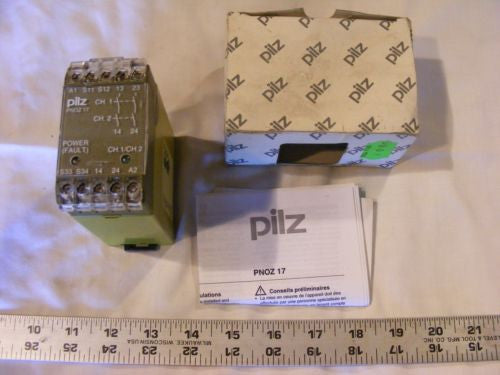 Pilz PNOZ 17 Safety Relay New In Box See Pictures