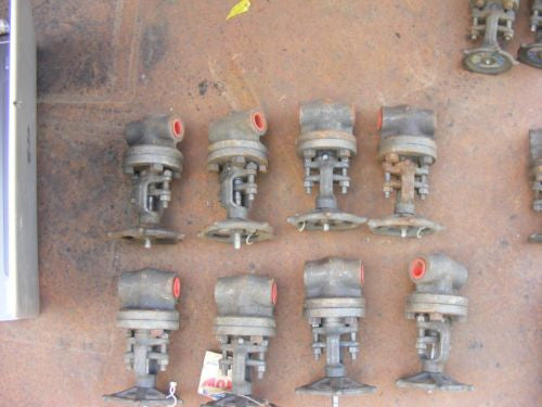 "Lot of 8 Henry Vogt 1/2"" Gate Valves E-34873 R27 1975 PSI @100F 800WP"