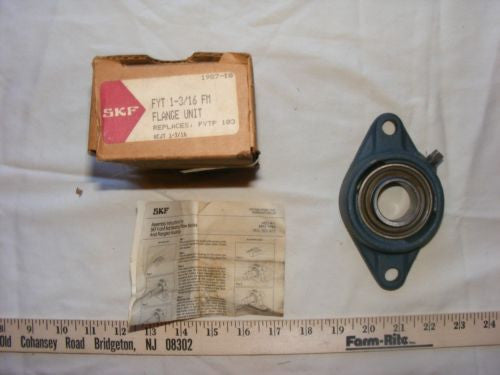 "NEW SKF 2 BOLT FLANGE BEARING FYT 1-3/16"" FM"