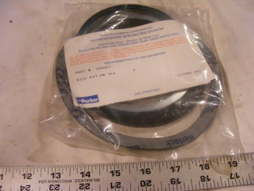 "Parker Refrigeration 204327 Stop Valve Disc Kit 5"" New In Package"