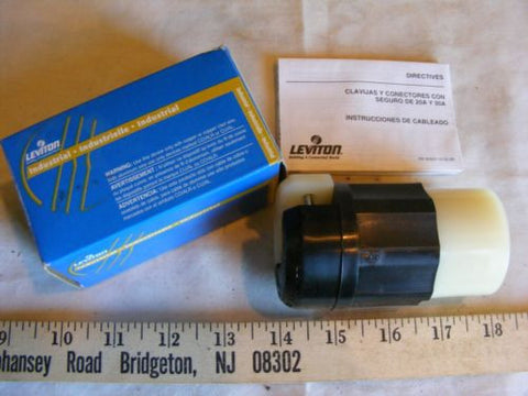 Leviton 2733 3P 4W Grdg 30A 480V Locking Connector L16-30R NIB