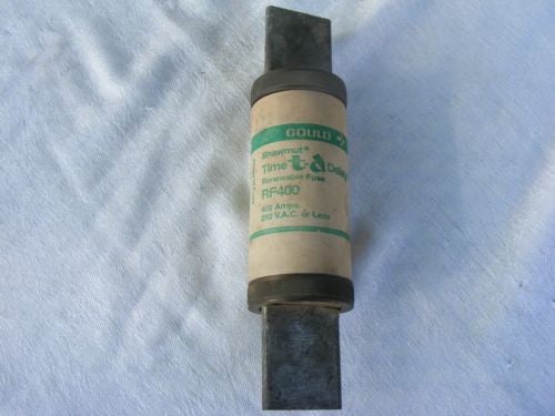 Gould Time Delay Renewable Fuse RF-400 400A 250 VAC or Less Tested