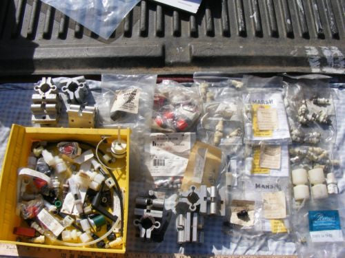 Large Lot of Marsh VideoJet Air Filter, Regulator Valves Fittings Brackets Lot