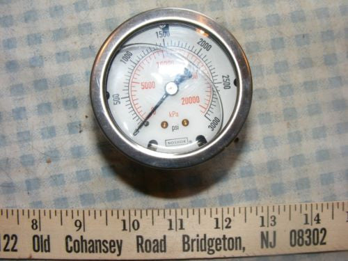 Noshok Liquid Filled Pressure Gauge 0-300 PSI