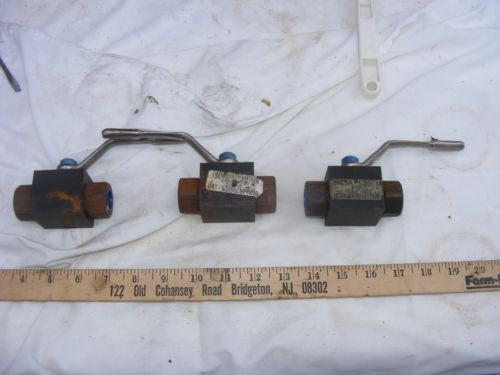 "Sold Each Parker 1/2"" Hydraulic ball Valve 6000 PSI Stamped BVHP08sss1n"