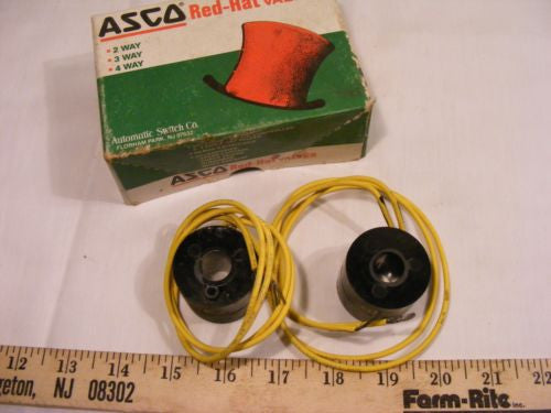 Lot of 2 Asco Red Hat 216-758-1D Coil