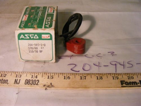 Asco Red Hat 204-945-1D  VALVE COIL 110/120V 50/60HZ
