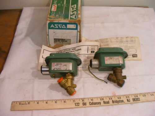 "Lot of 2 Asco Red Hat Solenoid Brass Valve 8030B10 3/8"" 2 Way NC"