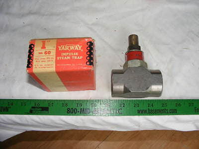 "Yarway Unibody Impulse Steam Trap 1""  Type Model Figure 60 400 psi at 450 f"