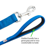 Heavy Duty Dog Leash - Super Comfortable Padded Handle For Walks - Very Durable Leashes For Training Large, Medium & Small Dogs - Excellent 6 Foot Length To Hold On Puppy That Pulls (B011YSFUBK)