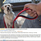 PetsLovers 2-layer 6ft Dog Leash - Red - Pets Lovers Club - 6