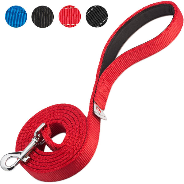 PetsLovers 2-layer 6ft Dog Leash - Red - Pets Lovers Club - 1