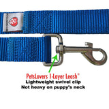 PetsLovers 1-layer 6ft Dog Leash - Blue - Pets Lovers Club - 2