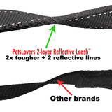 PetsLovers 2-layer 6ft Dog Leash - Reflective Black - Pets Lovers Club - 3