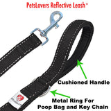 PetsLovers 2-layer 6ft Dog Leash - Reflective Black - Pets Lovers Club - 2