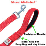 PetsLovers 2-layer 6ft Dog Leash - Reflective Red - Pets Lovers Club - 3