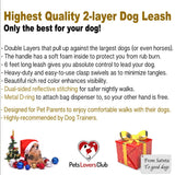 PetsLovers 2-layer 6ft Dog Leash - Reflective Red - Pets Lovers Club - 4