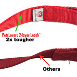 PetsLovers 2-layer 6ft Dog Leash - Red - Pets Lovers Club - 2