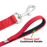PetsLovers 2-layer 6ft Dog Leash - Red - Pets Lovers Club - 3