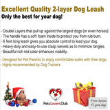 PetsLovers 2-layer 6ft Dog Leash - Red - Pets Lovers Club - 4