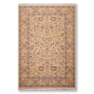 "6'1""x9'5"" Gold Aqua Rust, Blue, Multi Color Hand Knotted Reversible Flatweave  100% Wool Traditional Oriental Rug"