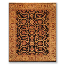 "8'10""x12'2"" Black Gold Rust, Beige, Tan, Burnt Orange, Multi Color Hand Knotted Persian Oriental Area Rug 100% Wool Traditional Oriental Rug"