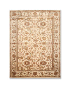 "8'3""x11'9"" Beige Brown Rust, Aqua, gGld, Multi Color Hand Knotted Persian Oriental Area Rug 100% Wool Traditional Oriental Rug"