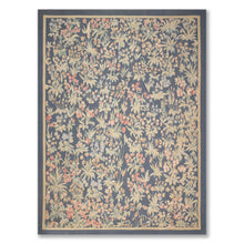 9'x12' Blue Sage Rose, Grey, Multi Color Hand Woven Aubusson  Area Rug 100% Wool Traditional Oriental Rug
