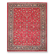 "8'3""x11'10"" Red Navy Ivory, Aqua, Blue,  Multi Color Hand Knotted Persian Oriental Area Rug 100% Wool Traditional Oriental Rug"