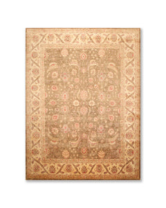 "8'3""x10' Brown Beige Rust. Tan, Gold, Olive, Multi Color Hand Knotted Persian Oriental Area Rug 100% Wool Traditional Oriental Rug"
