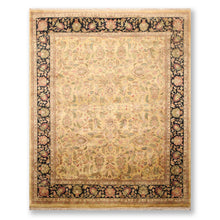"7'9""x9'8"" Gold Black Rust, Green, Beige, Olive, Multi Color Hand Knotted Persian Oriental Area Rug Wool Traditional Oriental Rug"