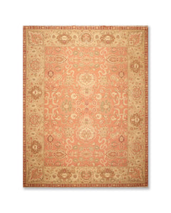 "8'5""x11'5"" Salmon Gold  Brown, Rust, Sage, Multi Color Hand Knotted Persian Oriental Area Rug 100% Wool Traditional Oriental Rug"