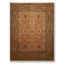 9'x12' Camel Green  Grey, Rust, Olive, Brown, Multi Color Hand Knotted Persian Oriental Area Rug 100% Wool Traditional Oriental Rug
