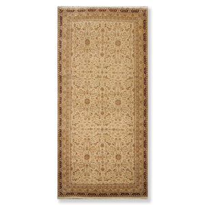 "7'5""x16' Beige Maroon Tan, Cream, Earth Tones Color Hand Knotted Persian Oriental Area Rug 100% Wool Traditional Oriental Rug"