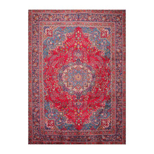 9' 7''x13' 2'' Red Navy Ivory Color Hand Knotted Persian 100% Wool Traditional Oriental Rug