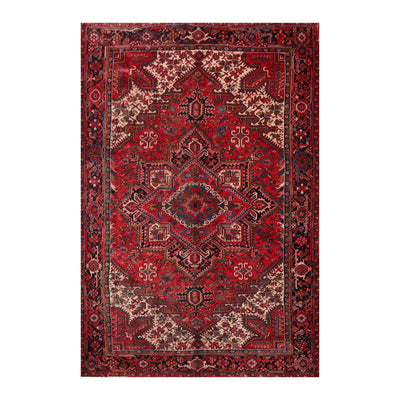 8' 2''x11' 8'' Red Rust Ivory Color Hand Knotted Persian 100% Wool Traditional Oriental Rug