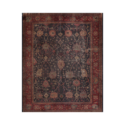 9' 1''x12' 5'' Blue Rust Beige Color Hand Knotted Persian 100% Wool Traditional Oriental Rug