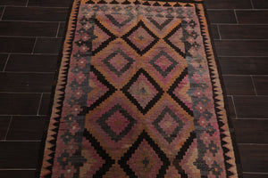 "3'8""x7' Rust Rose Brown, Grey, Multi Color Hand Woven Persian Oriental Area Rug Wool Traditional Oriental Rug"
